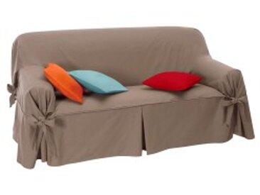 Housse fauteuiltaupe  Housse canapé nouettes préformée bachette