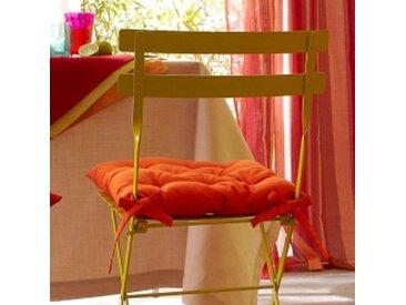 Lot de 2 galettes de chaise : 40x40cmrose poudré  Galette de chaise bachette - lot de 2
