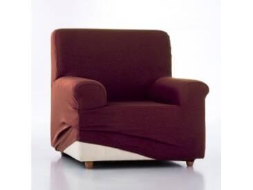Housse canapé 4 placeschocolat  Housse unie fauteuil canapé bi-extensible