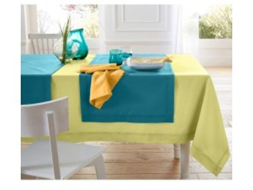Chemin de table : 50x150cmVERT Nappe aspect lin