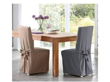 Lot de 2 housses de chaisegris anthracite  Housse de chaise confort