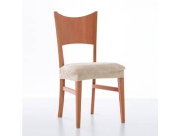 Lot 2 housses de chaiserouge  Housse chaise motif jacquard extensible Alice