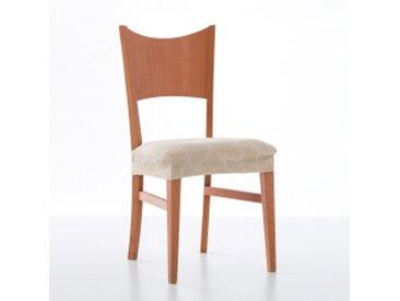 Lot 2 housses de chaisegris  Housse chaise motif jacquard extensible Alice