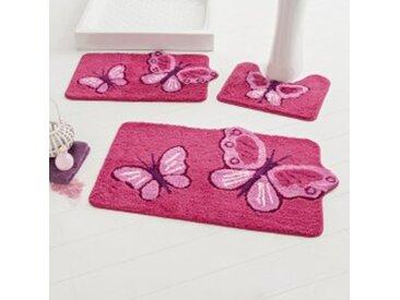 Tapis de bain : 60x100cmrose / fuchsia Tapis de bain fantaisie Papillons