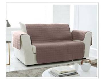 Protège-canapé 3 places : 200x140cmtaupe  Protège-salon matelassé microfibre