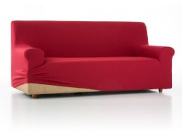 Housse canapé 2 placesrouge  Housse unie fauteuil canapé bi-extensible
