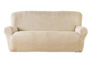 Housse fauteuil 1 placerouge  Housse extensible jacquard fauteuil canapé