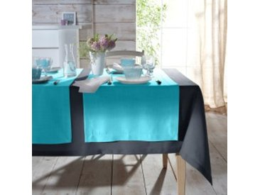Chemin de table : 50x150cmgris  Nappe aspect lin