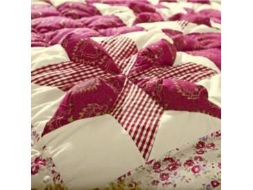Jeté de lit 2 pers : 250x250cmbordeaux Couvre-lit patchwork