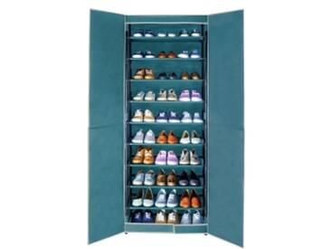 bleu  Armoire à chaussures 30 paires