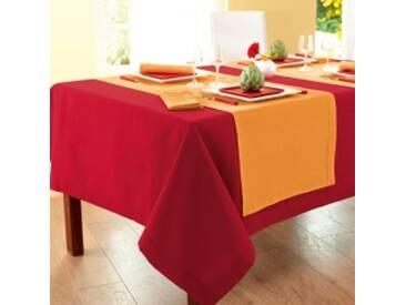 Lot 4 serviettes : 45x45cmrouge Nappe aspect lin