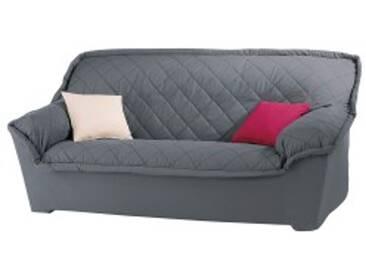 Housse canapé 2 placesgris anthracite  Housse canapé fauteuil accoudoirs bachette