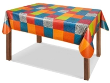 Toile cirée rectangulaire 140x200cmmulticolore  Nappe toile cirée imprimé multicolore