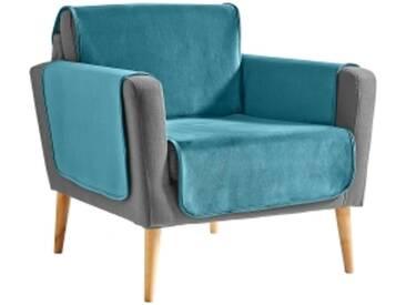 Protège-fauteuil : 60x140cmcèdre Protège-salon antiglisse effet velours