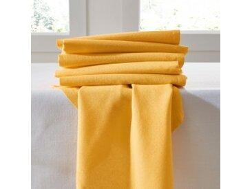 Lot de 6 serviettes : 45x45cmjaune  Serviettes de table unies - lot de 6