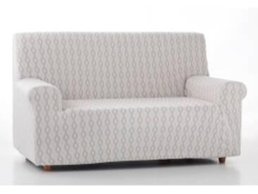 Housse canapé 2 placesjaune / gris Housse fantaisie extensible pour fauteuil et canapé