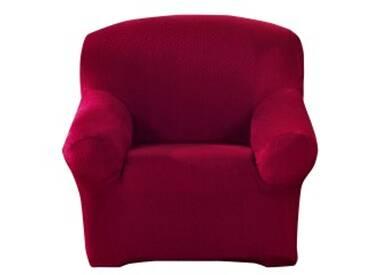 Housse fauteuil 1 placebeige  Housse unie extensible fauteuil canapé