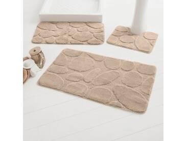Tapis de bain : 60x100cmprune  Tapis de bain motif galets
