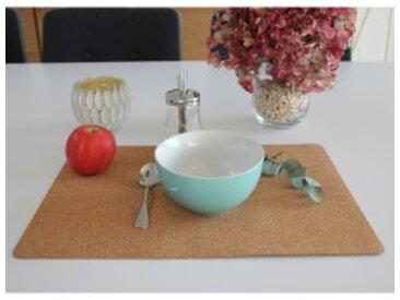 Lot 4 sets de table rectangulaire 43x30cmnaturel  Set de table en liège – lot de 4