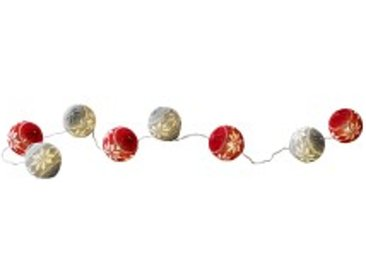rouge/beige  Guirlande lumineuse boules
