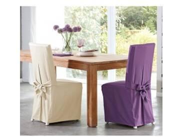 Lot de 2 housses de chaiseécru  Housse de chaise confort