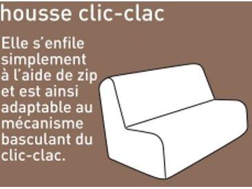 Housse matelassée clic clac : 140x190cmbleu paon  Housse clic-clac bachette