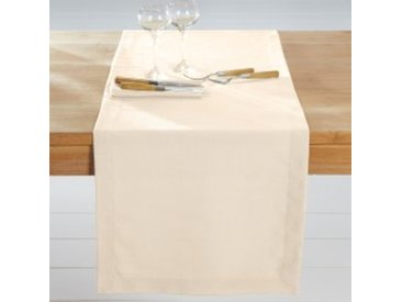Chemin de table : 50x150cmnaturel  Nappe aspect lin