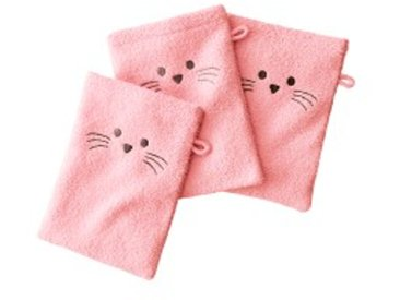 Lot de 3 gantsrose  Gant de toilette brodé souris - lot de 3