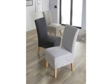 housse chaise bi-extensiblebeige  Housse de chaise bi-extensible