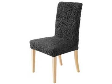Housse de chaisegris anthracite  Housse chaise bi-extensible