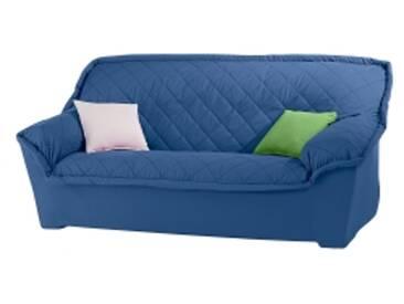 Housse canapé 2 placesbleu Housse canapé fauteuil accoudoirs bachette