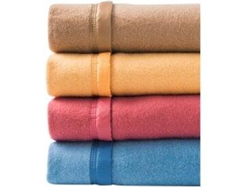 Couverture 2 pers : 240x260 cmframboise  Couverture laine 1er prix 350g/m2