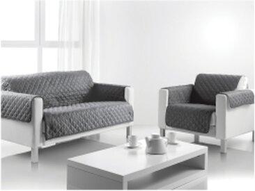 Protège fauteuil/canapé universel 3 placesgris  Protège-salon matelassé universel