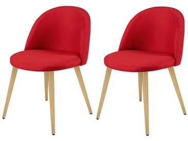 Chaise Cozy rouge (lot de 2)