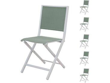 Chaise pliante Ida amande (lot de 6)