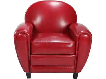 Soldes - Fauteuil Club rouge