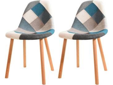 Soldes - Chaise Arctik Patchwork bleue (lot de 2)