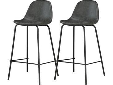 Chaise de bar Henrik noire 65 cm (lot de 2)