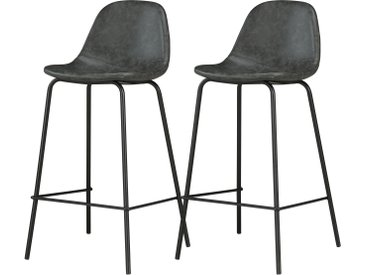 Chaise de bar Henrik noire (lot de 2)
