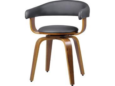 Chaise grise Harold avec accoudoirs