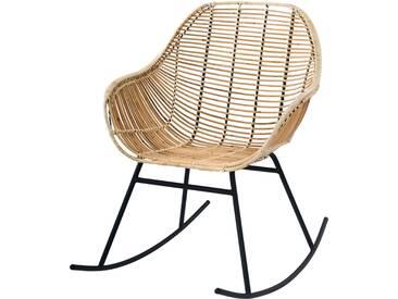 Rocking-chair Pakur en rotin naturel