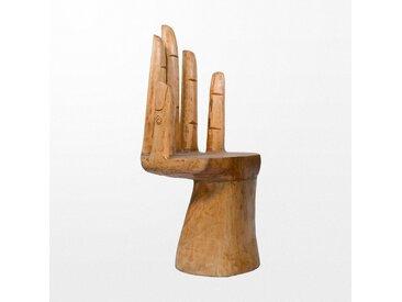 Chaise en bois de suar atypique en forme de main