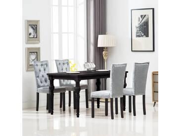 Chaise de salle à manger 4 pcs Velours Argenté - vidaXL