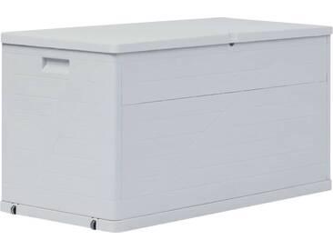 Boîte de rangement de jardin 420 L Gris clair - vidaXL