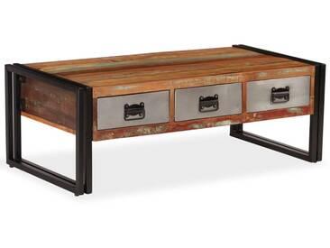 Table basse avec 3 tiroirs Bois de récupération 100x50x35 cm - vidaXL