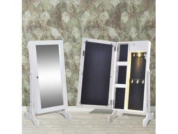Armoire à bijoux avec miroir et éclairage LED - vidaXL