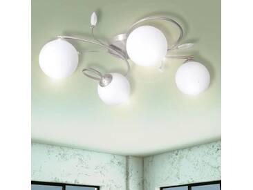 Lampe plafond avec feuilles acryliques verres soufflés 4 ampoules G9 - vidaXL