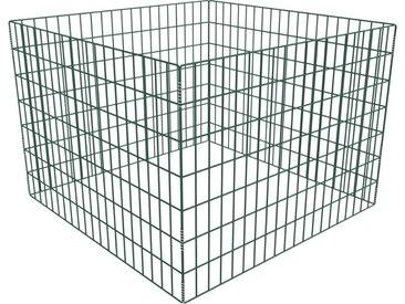 Composteur de jardin carré en maille 100 x 100 x 70 cm - vidaXL