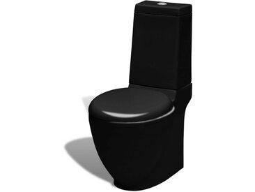 Cuvette en céramique Noir - vidaXL