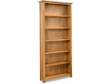 Bibliothèque à 6 étagères Chêne 80 x 22,5 x 180 cm - vidaXL